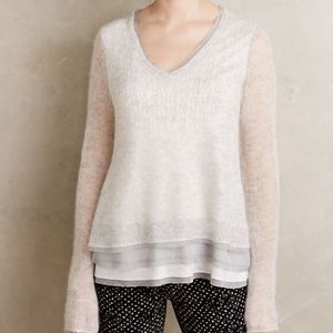 {Anthro} Knitted & Knotted Alessia Mohair Sweater
